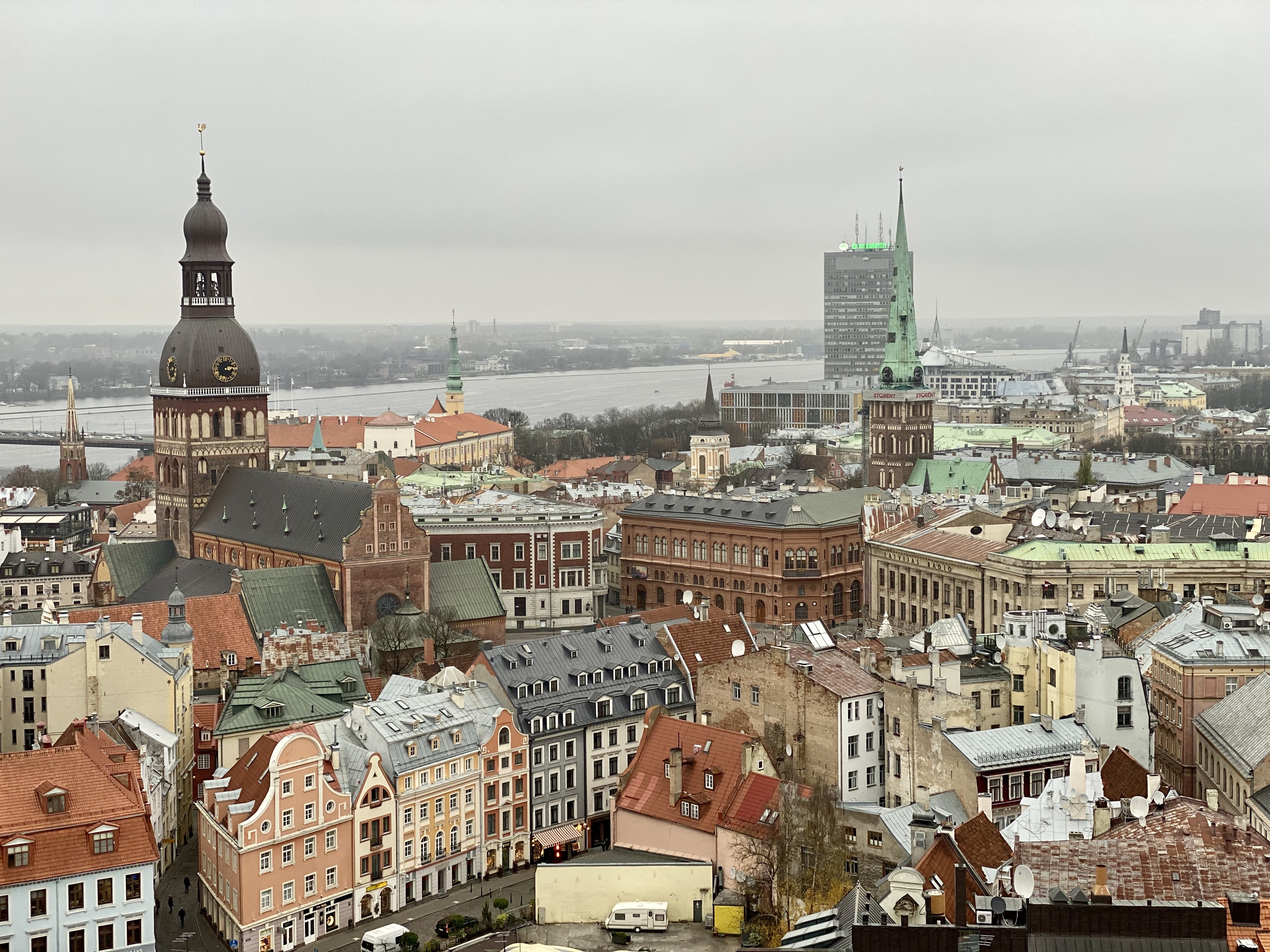 View of Riga, Latvia, from St. Peter's Church.