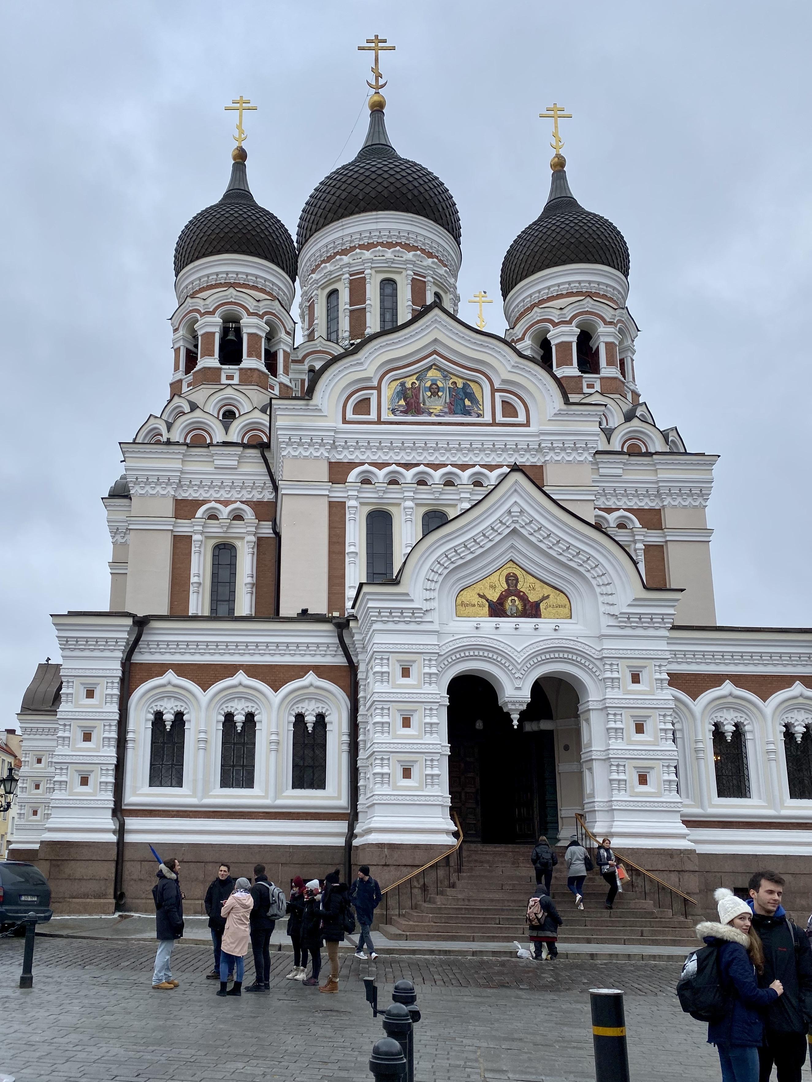 The Alexander Nevsky Cathedral in Tallinn, Estonia.