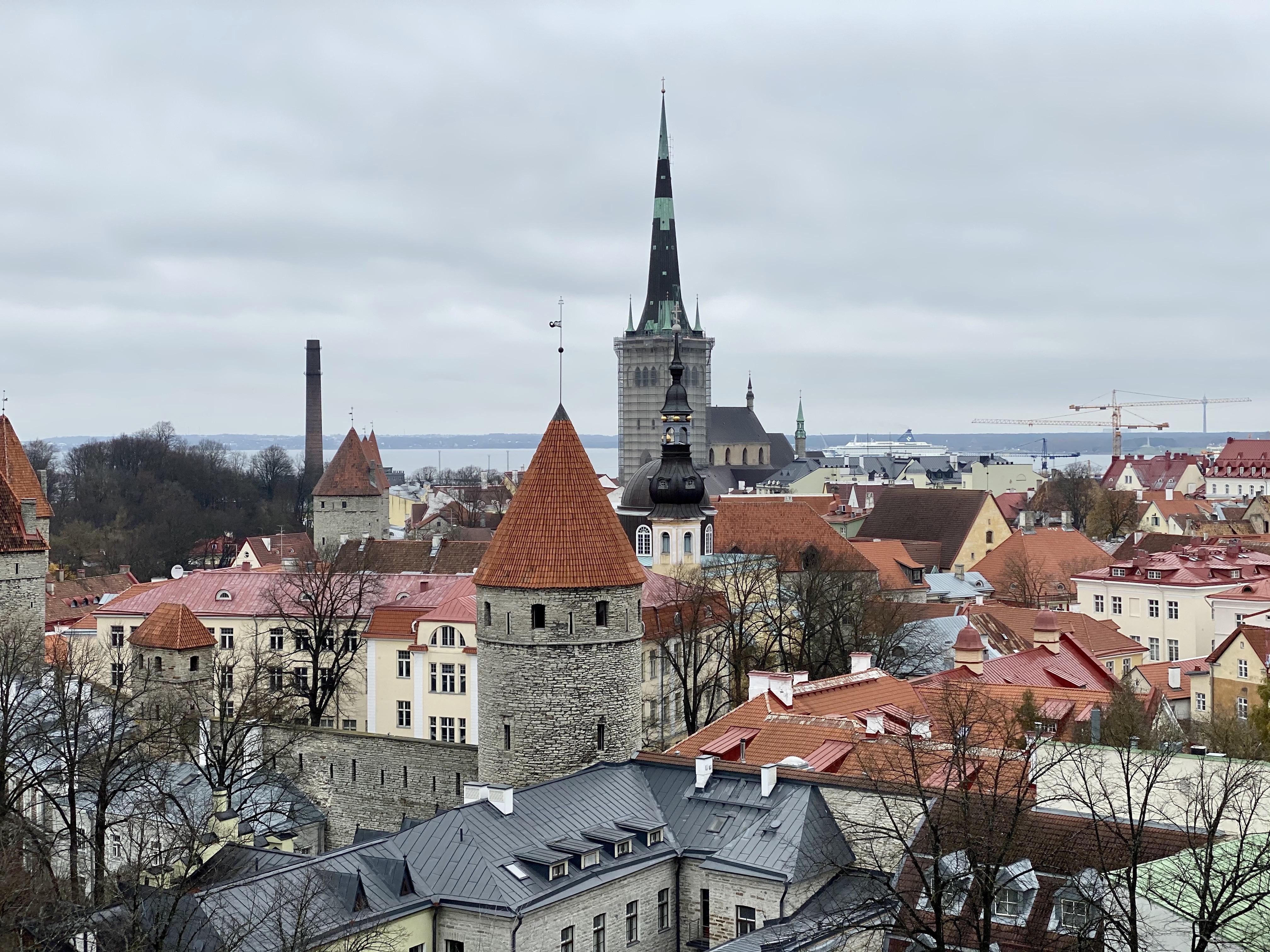 Views over Tallinn, Estonia.