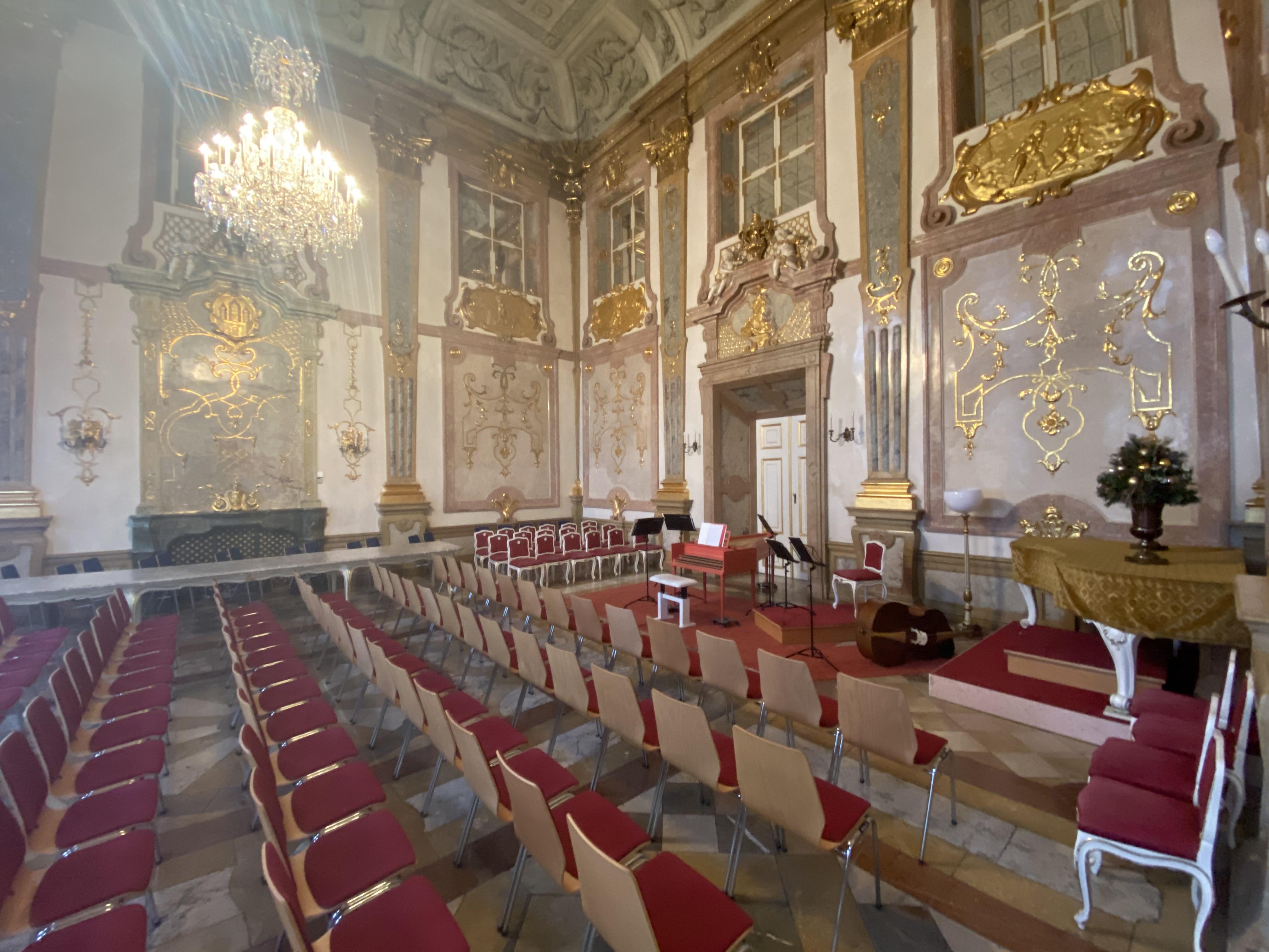 Marble Hall at Schloss Mirabell.