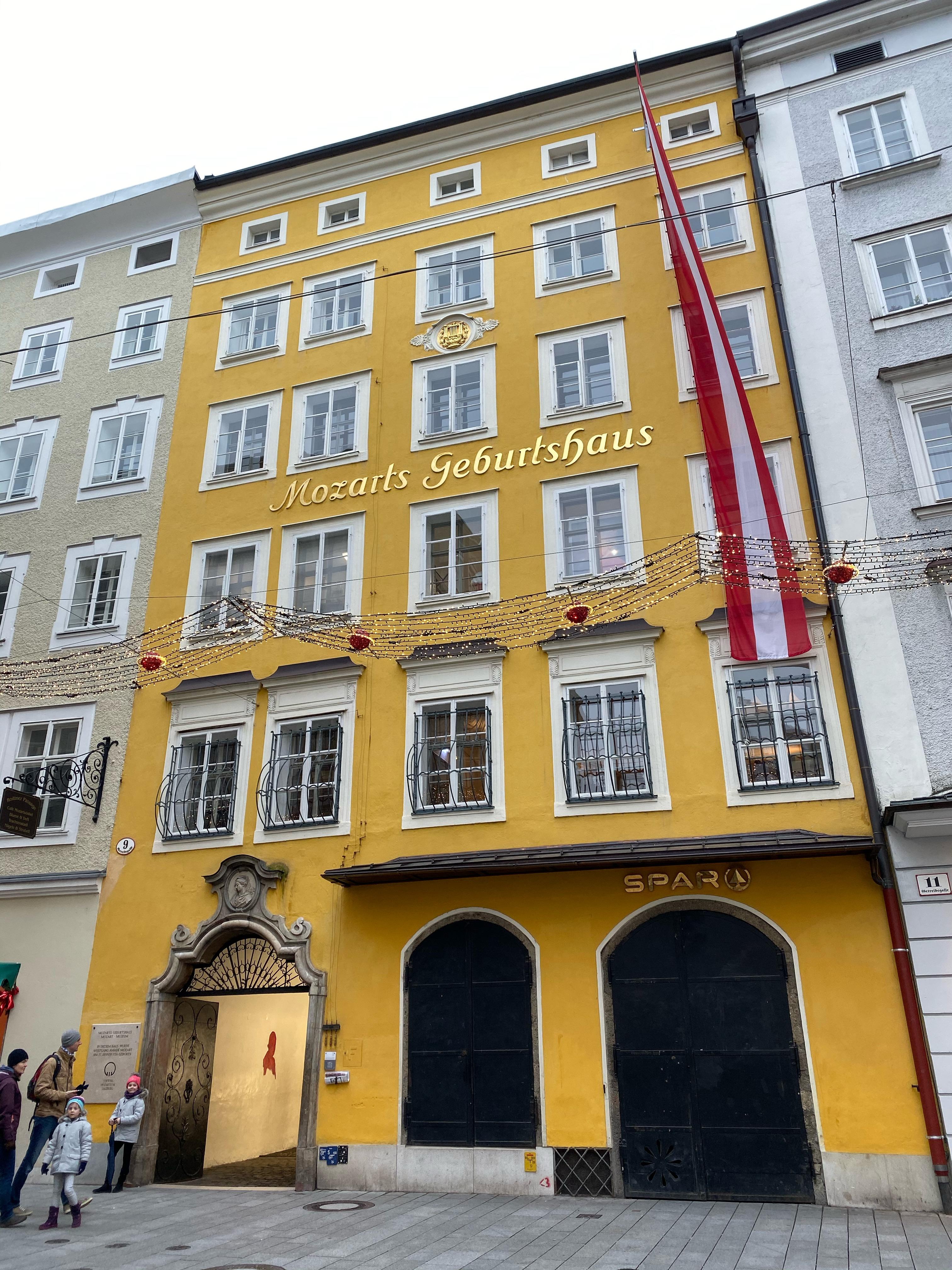 Mozart's Geburtshaus in Salzburg.