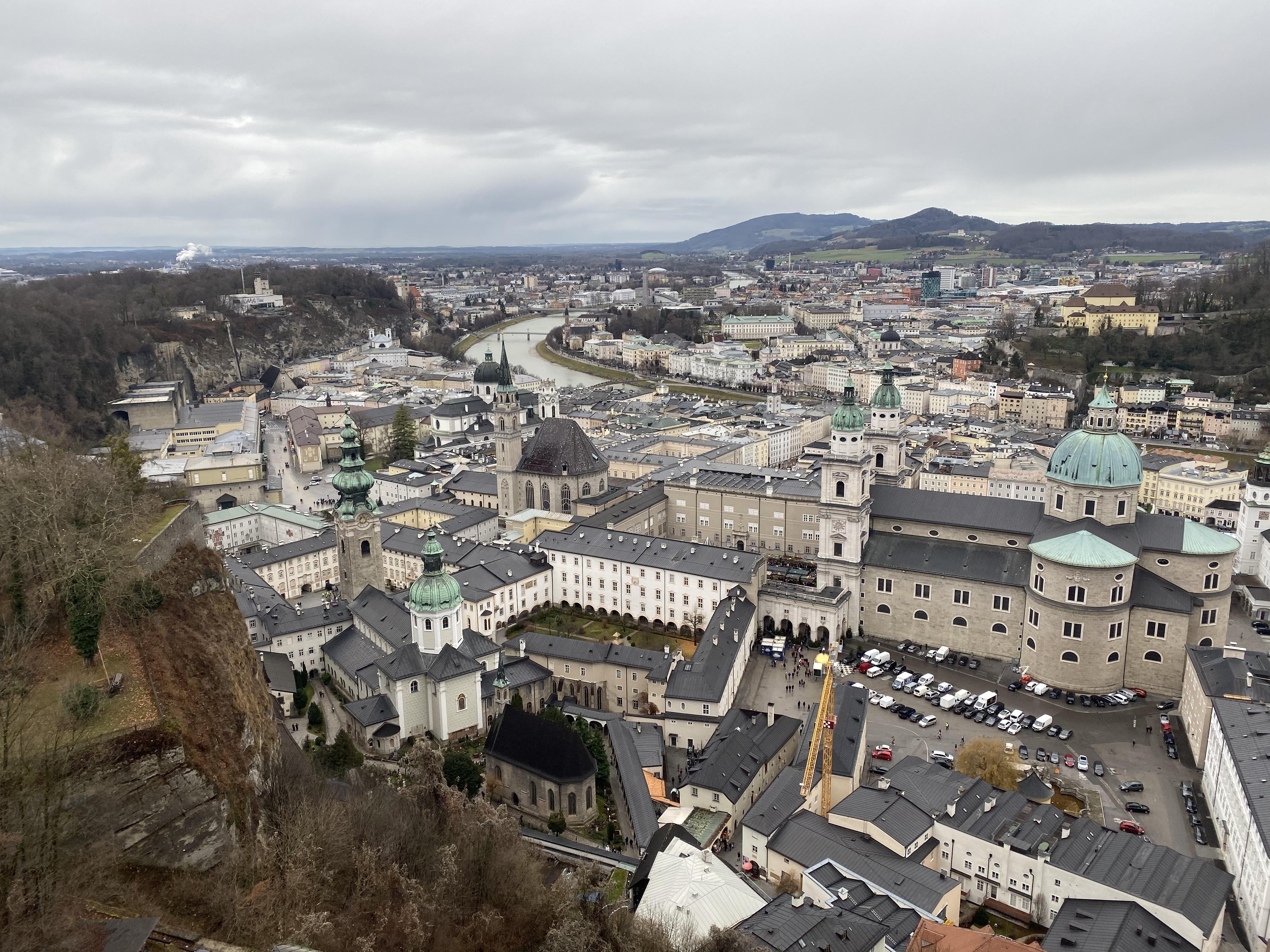 Views over Salzburg from Hohensalzburg Fortress.