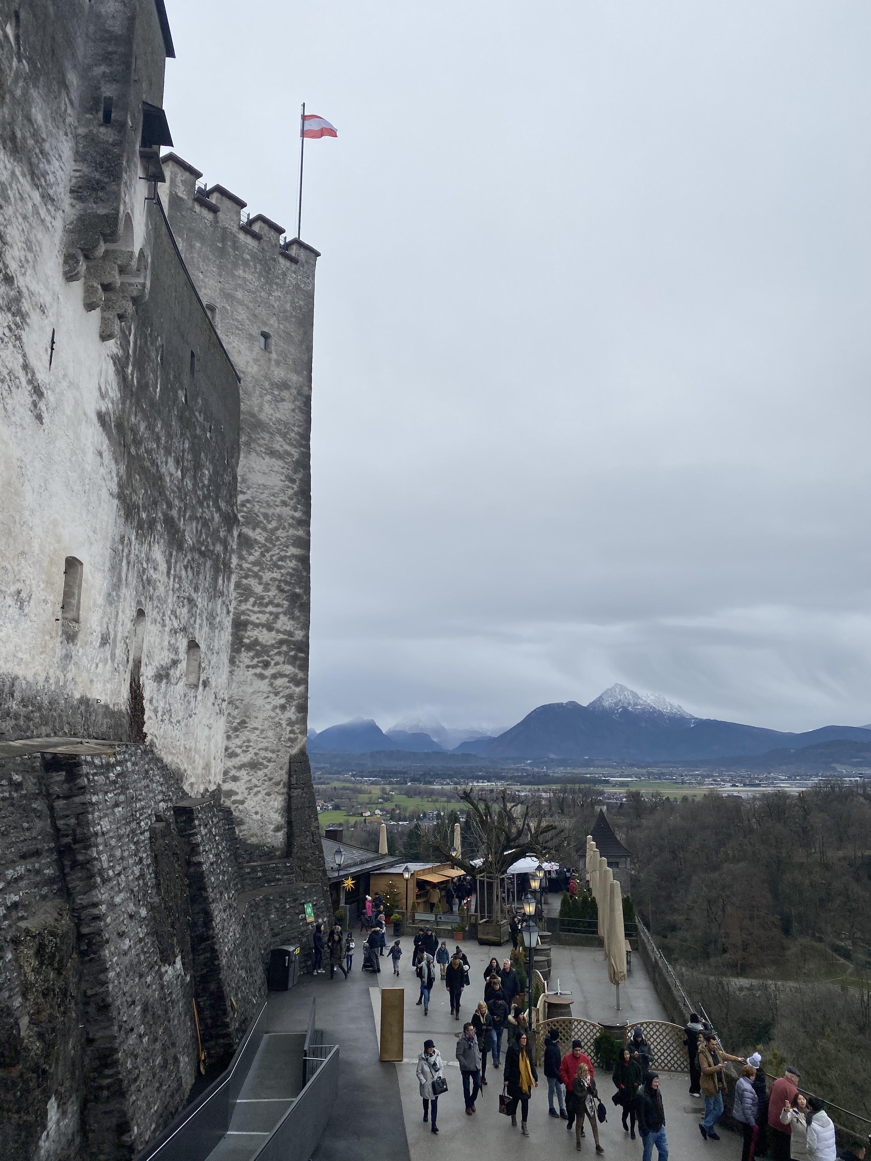 Views from Hohensalzburg Fortress in Salzburg.