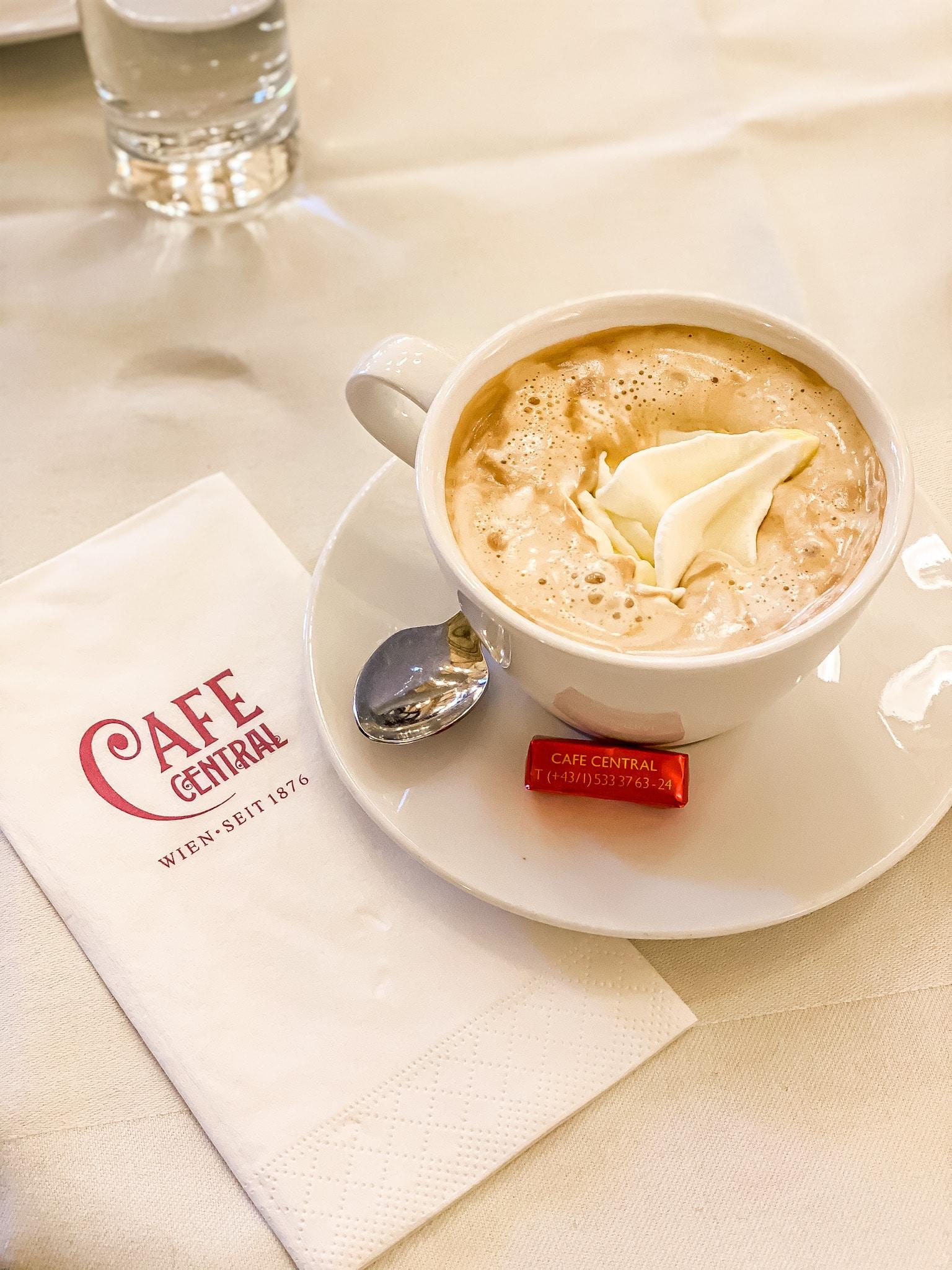 Cafe Central in Vienna, Austria.