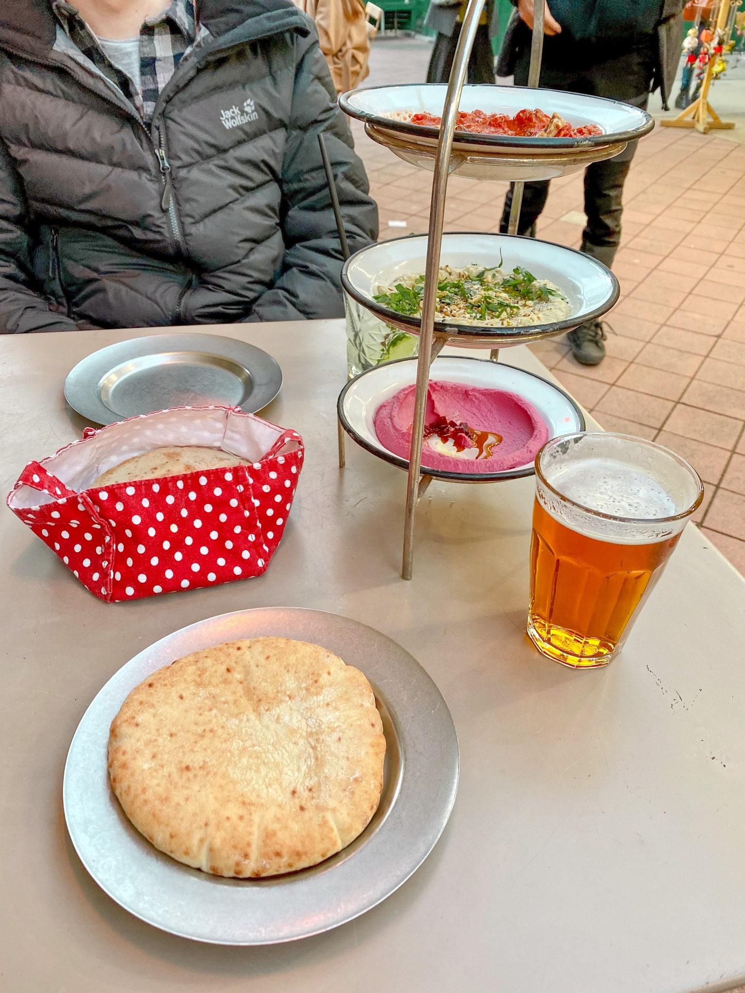 A meal served at the Naschmarkt in Vienna, Austria.