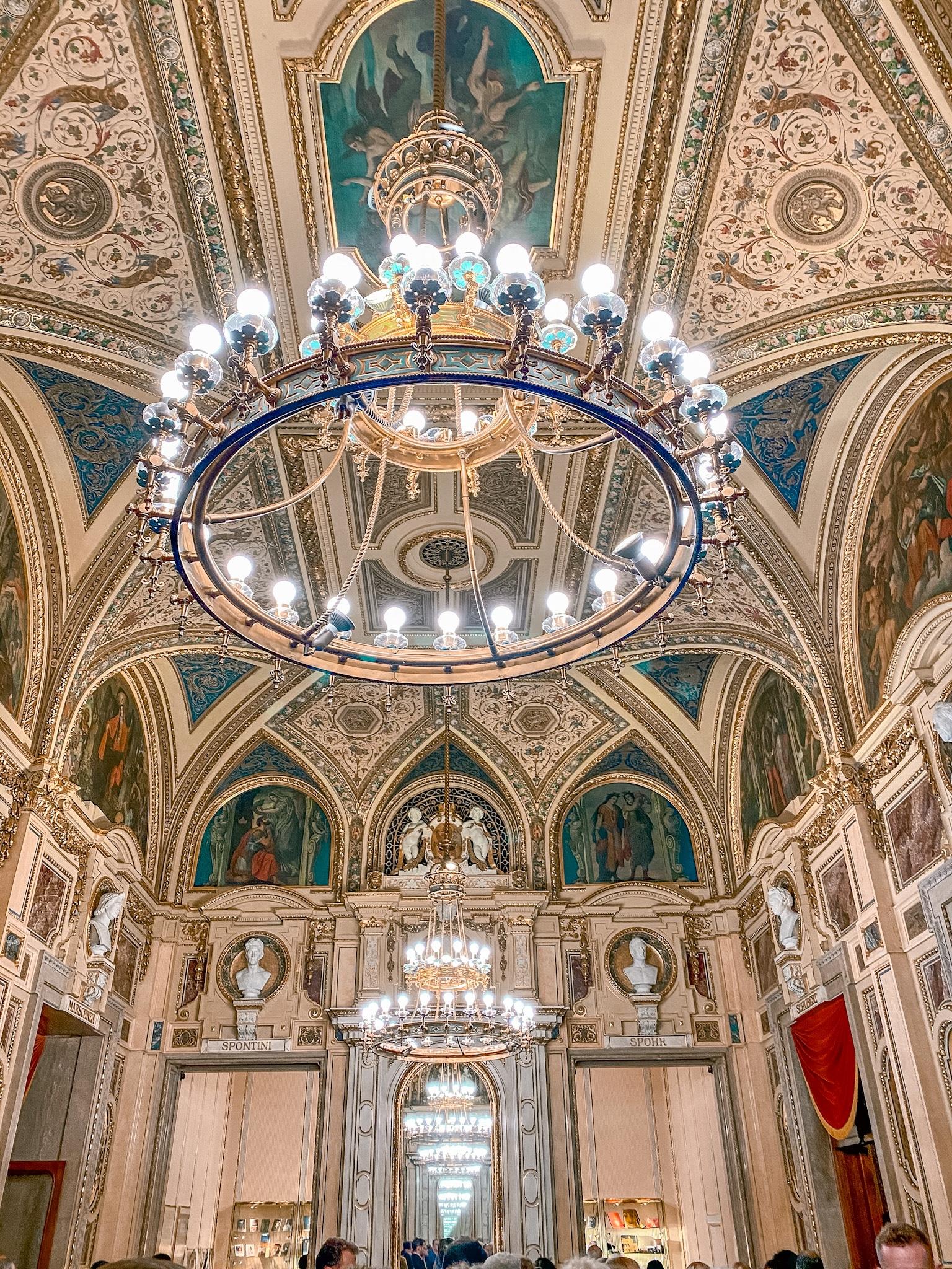 The beautiful interior of Wiener Staatsoper (Vienna State Opera House).